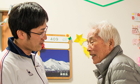利用者さんにもとっても慕われている吉田さんです。